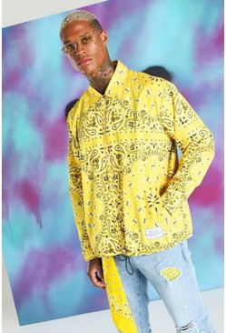 Yellow Quavo Bandana Print Coach Jacket