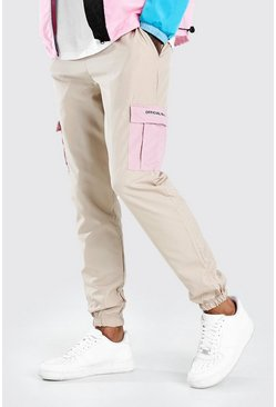 Stone Official MAN Large Cargo Pocket Shell Jogger