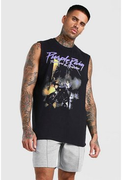 Black Prince Purple Rain License Drop Armhole Tank