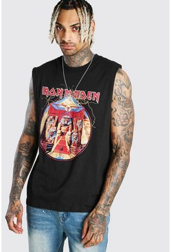 Black Iron Maiden Licensed Drop Armhole Tank