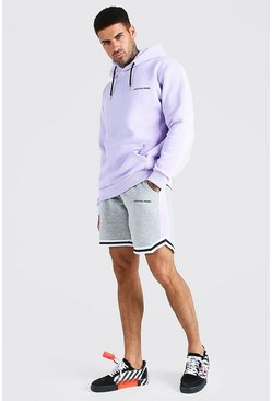 Lilac Official MAN Tape Short Tracksuit With Sports Rib