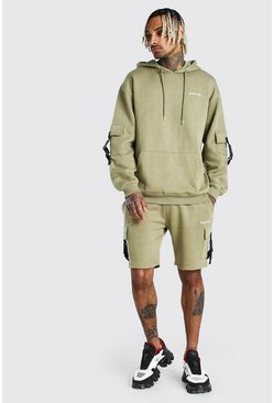 Sage Oversized MAN Official Short Cargo Tracksuit