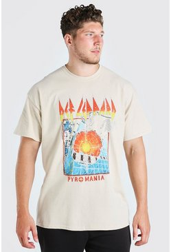 Stone Big And Tall Def Leppard License T-Shirt