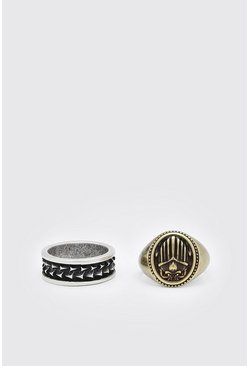 Multi 2 Pack Mixed Ring Set