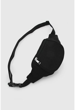 Black Plain Fanny Pack