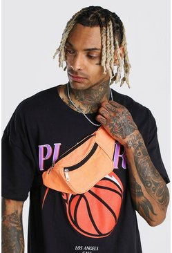 Orange Plain Fanny Pack