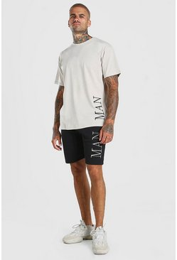 Stone Contrast MAN Loose Fit T-Shirt And Short