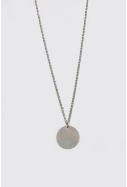 Silver Plain Pendant Necklace