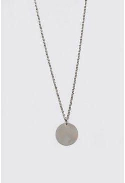 Silver Plain Pendant Necklace