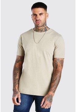 Sage silver Basic Crew Neck T-Shirt
