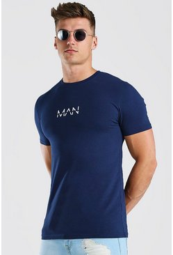 Navy Original MAN T-Shirt In Muscle Fit