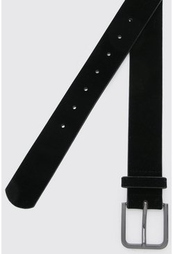 Black Faux Suede Belt