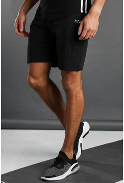 Short cargo MAN Active, Noir
