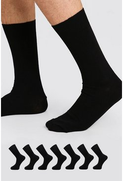 Black 7 Pack Suit Socks