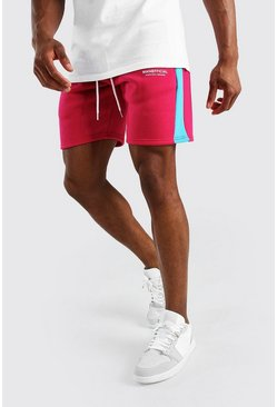 Pink MAN Official Mid Lenght Short With Side Panel