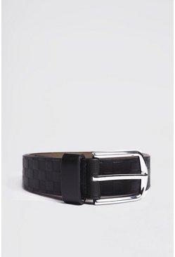 Black Deboss Detail Belt