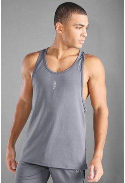Charcoal Man Active Gym Racer Tank Top