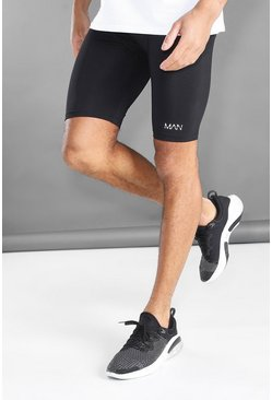 Black MAN Active Shorts With Waistband Detail