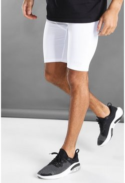 White MAN Active Shorts With Waistband Detail
