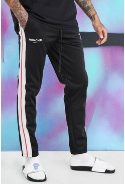 Black Quavo Tricot Jogger With Side Tape