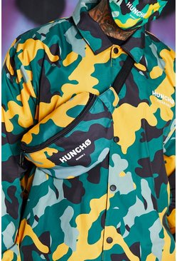 Yellow Quavo Camo Print Bum Bag