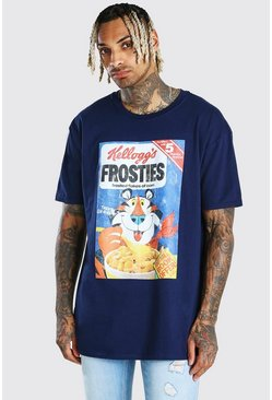 Navy Oversized Kelloggs Frosties License T-Shirt