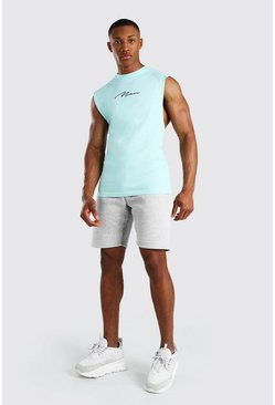 Mint MAN Signature Drop Armhole Tank