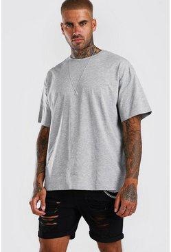Grey Oversized Crew Neck T-Shirt