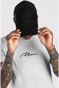 Black MAN Script Trucker Cap