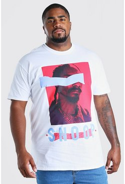 White Big And Tall Snoop License T-Shirt