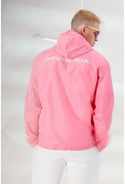 Pink MAN Official Back Print Overhead Cagoule