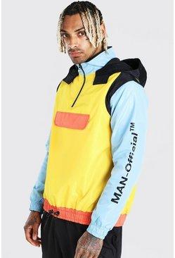 Multi MAN Official Colour Block Front Pocket Cagoule