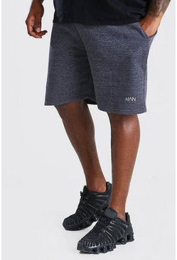 Charcoal Big And Tall MAN Mid Length Jersey Short