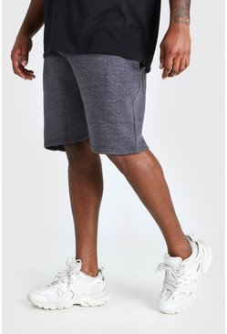 Charcoal Plus Size Basic Mid Length Jersey Short
