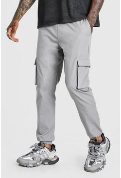 Grey Utility Pocket Cargo Jogger Trouser