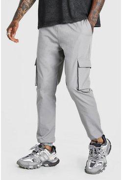 Grey Utility Pocket Cargo Jogger Trouser