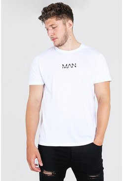 White Plus Size MAN Dash Longline T-Shirt