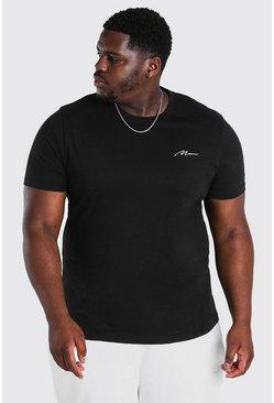 Black Big And Tall MAN Script Logo T-Shirt