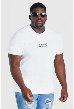 White Big And Tall MAN Dash T-Shirt