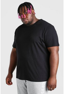 T-shirt long basique big and tall, Noir