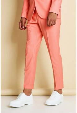 Coral Skinny Plain Suit Trousers