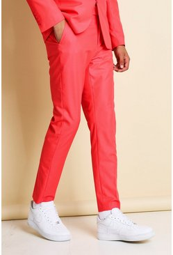 Neon-pink Skinny Neon Suit Trousers
