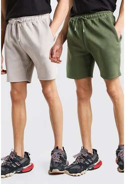Multi 2 Pack Mid Length Jersey Short