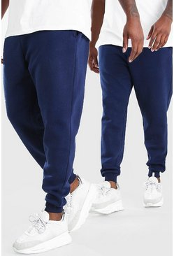 Navy Big And Tall 2 Pack Skinny Fit Jogger