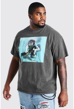 Charcoal Big And Tall Kurt Cobain License T-Shirt