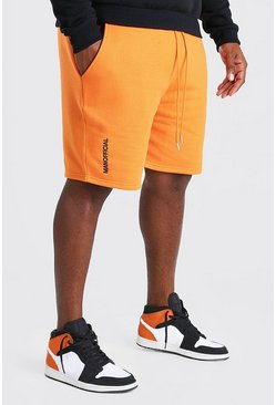 Orange Big And Tall MAN Embroidered Short