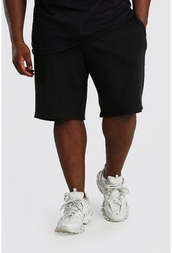 Black Plus Size MAN Dash Basketball Short