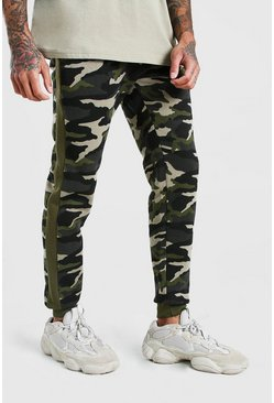 Green Original MAN Camo Joggers With Side Panel