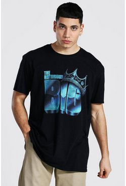 Black Oversized The Notorious Big License T-shirt