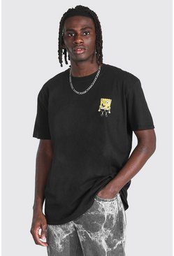 Black Oversized Spongebob License T-shirt